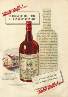 Old Overholt Rye Whiskey 1942 ad