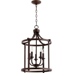 Lancaster Oiled Bronze Five Light 16 Inch Pendant