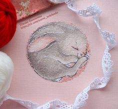 ✽ Instant Download Cross stitch Pattern ✽ Sleeping Bunny (Sweet dream) easy counted cross stitch pattern in PDF for instant download and print. - Stitches : full cross stitch, half cross stitch, backstitch, French knots - Stitch count: 56 x 56 - Colors: DMC stranded cotton - Required