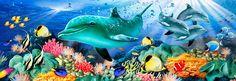 Dolphin Light mural