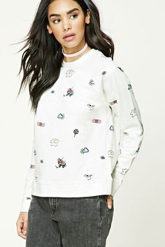 Roller Skate Print Sweatshirt