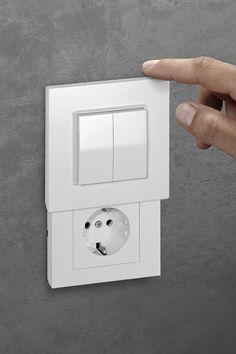 Die Innovative Schalter Steckdosen Kombination Die Versteckdose Schalter Und Steckdosen Steckdosen Und Lichtschalter Elektroinstallation Haus