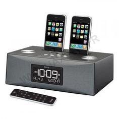 Station radio-réveil iPhone/iPod iHome double dock