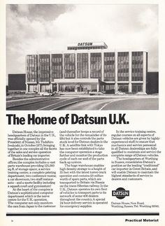 Datsun House, Worthing c.1977 | Now known as Columbia House … | Flickr Old Pictures, Old Photos, Worthing, Local History, Galaxy Wallpaper, Looking Back, Brighton, Columbia, Weird