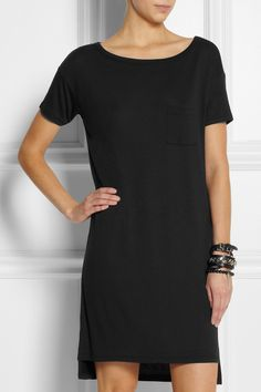 T by Alexander Wang | Jersey T-shirt dress | NET-A-PORTER.COM £80 Shirt Dress, T Shirt, Net A Porter, Alexander Wang, Slip On, Casual, Stuff To Buy, Outfits, How To Wear