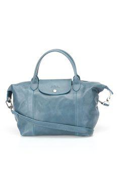 Longchamp Le Pliage Cuir Small Handbag In Canard