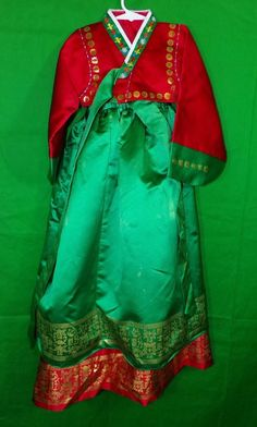 Other Asian & Pacific Island Cultural & Ethnic Clothing Halloween Costumes For Sale, Green Costumes, Korean Hanbok, Costume Dress, Ethnic, Sari, Asian, Culture, Traditional