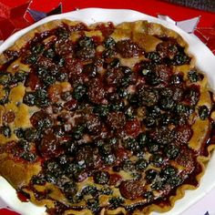 Carla's Blueberry Cherry Pie with Sour Cream.