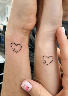 Initial Tattoo – Sister tattoos – # Initial … - Famous Last Words Mini Tattoos, Bts Tattoos, Dainty Tattoos, Love Tattoos, Tatoos, Cross Tattoos, Awesome Tattoos, Couples Tattoo Designs, Small Tattoo Designs