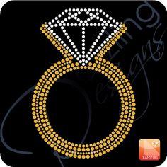 Bling Ring/Diamond Ring Rhinestone Transfer http://www.dazzlingdesignsinc.com/bridal-images?rid=pinterest-bridalbling