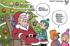 Bernie Sanders Santa, Bruce Plante,Tulsa World,bernie,santa,christmas,christmas-2015