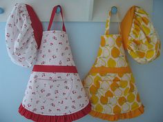 Make a Child's Apron and Chef's hat : tutorial