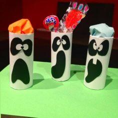 Artesanato para Halloween: Recipiente fantasma
