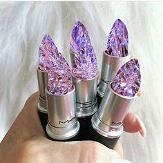 Resultado de imagem para mac lipstick filled with crystals Jelly Lipstick, Cute Lipstick, Gloss Lipstick, Lipsticks, Mac Makeup, Makeup Art, Makeup Cosmetics, Makeup Eyeshadow, Makeup Ideas