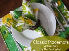 Classic Placemats - Vintage Flare - The Sewing Loft