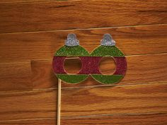 Christmas Glasses Photo Booth Props  Glitter Photo by LoveMischka