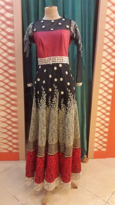 #anarkali#floor-length#mirror-boarder#long-sleeve#embrodery#thread#bollywood#desistyle#