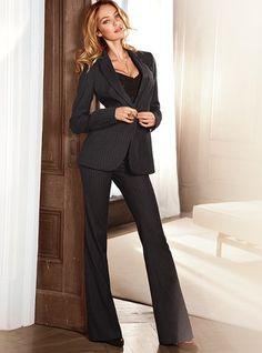 NO LINES professional woman won't tolerate lines under a perfect black suit #SimplySoles