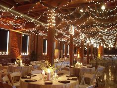 We have quite a few strands of white xmas lights.  Even a few would help soften the ceiling of the pavillion.