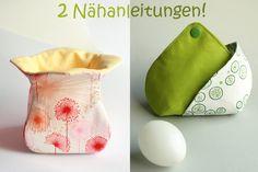 2 Anleitungen Stoffkörbchen °Kelch° u. Eierwärmer von orimono auf DaWanda.com