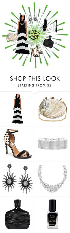"""""""Black And White"""" by jeanstapley ❤ liked on Polyvore featuring Rocio, Mambo, Henri Bendel and Barry M"""