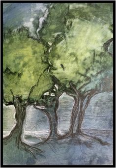 Zinnobergrün - Der Wald des Waldhüters, Aquarell Painting, Watercolor Painting, Woodland Forest, Painting Art, Paintings, Painted Canvas, Drawings