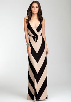 Love....Love....black & tan  Bebe maxi dress