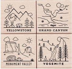 National Parks Poetic Prints - Rubber Stamp
