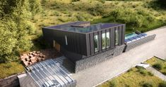 Located in Larvik, Norway, ZEB Pilot House is a Zero Emission Building designed by Snøhetta Architecture and Design. Plus House Larvik is . Green Architecture, Architecture Design, Zero Energy Building, Norwegian House, Piscina Interior, Casas Containers, Energy Efficient Homes, Eco Friendly House, Built Environment