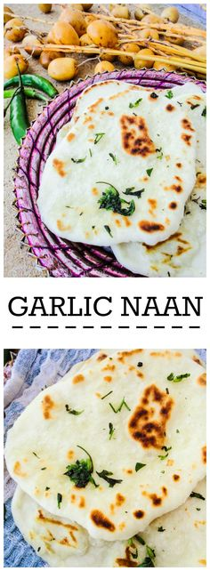 Buttery and garlicky, these naan are incredibly soft with all those giant air…