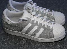 Adidas Superstar Sneakers in Silber-Glitzer Silver Glitter