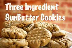 Peanut Butter Cookies that are safe for Ethan's peanut allergy. Three Ingredient SunButter Cookies Recipe at Food Allergies on a Budget Biscuit Sans Gluten, E Cooking, Peanut Free Foods, 3 Ingredient Cookies, Biscuits, Allergy Free Recipes, Paleo Recipes, Easy Recipes, Nut Allergies