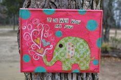 ElephantIt Is Well With My SoulOriginal by hodgepodgebycarley, $25.00