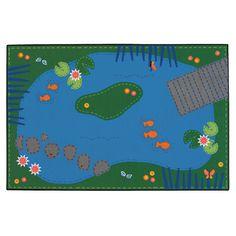 Kids Value Rugs Tranquil Pond Kids Rug & Reviews | Wayfair