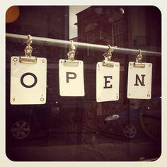 FA shop Open sign