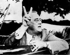 Franklin Delano Roosevelt, Hyde Park, in New York, en 1939.