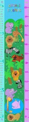 Animal Friends Height Chart