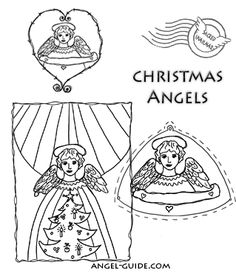 Angel Christmas Coloring Pages,Pictures of Christmas Angels to Print & Color, Christmas Angel Crafts for Kids, Free to Print Angel Pictures, Christmas Cherubs and Xmas Angel Pics at angel-guide.com