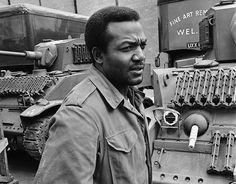Jim Brown on the set of The Dirty Dozen, 1967.