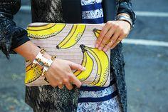 Lizzie Fortunato Safari Bananas Clutch - £207.00 #fashion #fruits