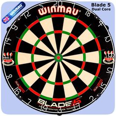 Winmau Blade 5 DC Dartboard - 5th Generation - with Rota Lock System - Blade 5 - Dual Core - http://www.dartscorner.co.uk/product_info.php?products_id=19405