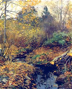 Willard Leroy Metcalf (American, 1858-1925)  Landscape
