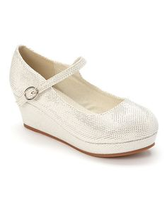 Another great find on #zulily! White Lovely Wedge Mary Jane #zulilyfinds