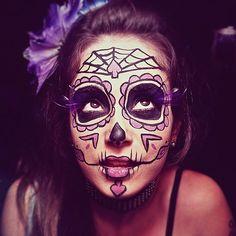 Cíntia Tchy - Mexican Skull Makeup by Marília Martins - Maquiagem de Caveira Mexicana - Foto por Cesinha  http://www.alexandraspallicci.com.br/?p=2221