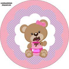 kit festa ursinha rosa grátis para imprimir