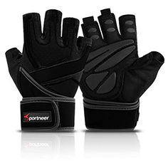 Sportneer Weight Lifting Gloves, Full Palm Protection with Built-in Wrist Wraps for Gym Exercise Fitness Workout, Pull Ups, Bike Training, Weightlifti Gym Gloves, Workout Gloves, Weightlifting Gym, Powerlifting, Best Weight Lifting Gloves, Lifting Straps, Workout Accessories, Gym Workouts, Workout Fitness