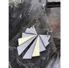 Origami fan earrings   Origami viuhka korvakorut  made by CherryAnn Suomalaista käsityötä/ Made in Finland www.madebycherryann.com Instagram @madebycherryann Facebook Made by CherryAnn