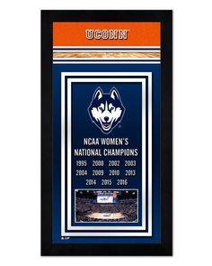 """UConn Women's Basketball Championship Banner - 6.75"""" x 13"""" Mini-Framed Photo"""