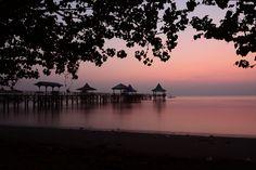 Waiting for sunrise in Kenjeran beach
