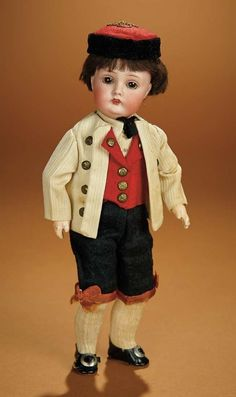 Bread and Roses - Auction - July 26, 2016: 413 All-Original German Bisque Doll, Model 174, by Kestner in Original Costume
